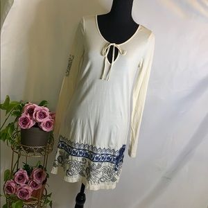 Johnny Was Long Sleeve Tunic Dress| Size S